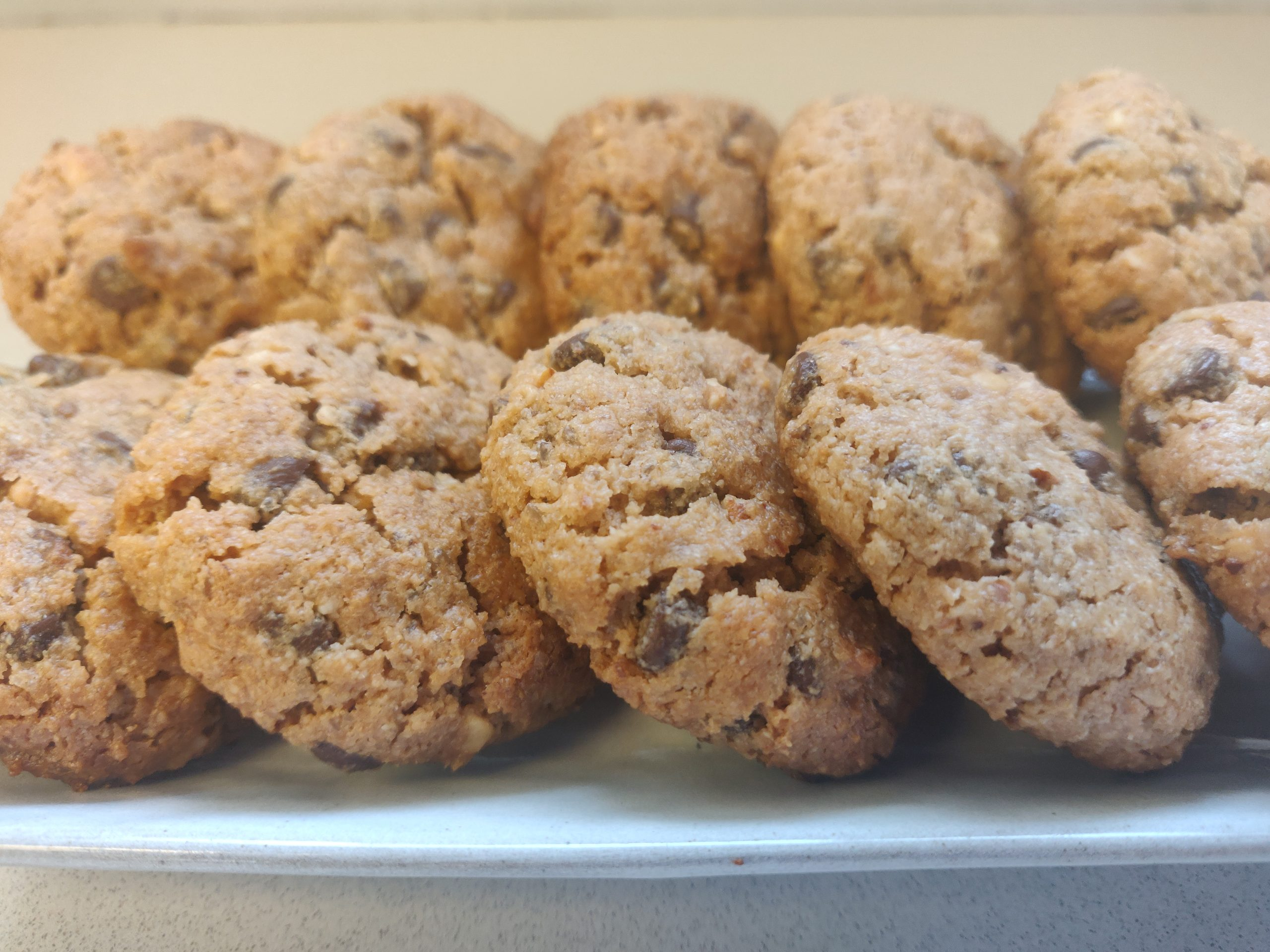 עוגיות בוטנים ושוקולד טבעוני